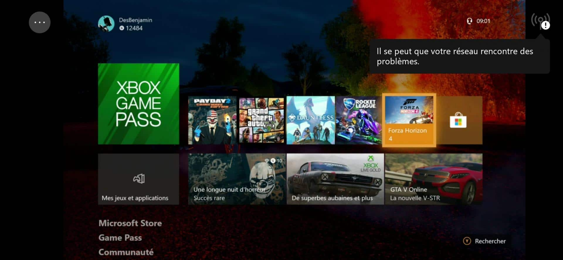 Interface Xbox Streaming