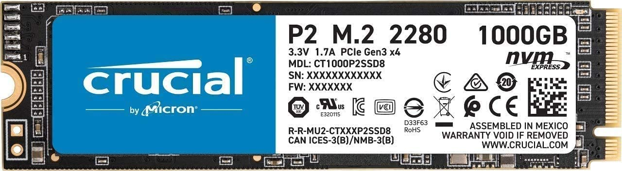 SSD Crucial P2 (NVME)