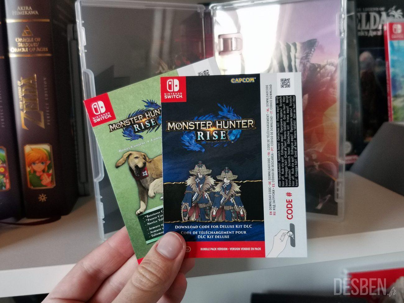 Photo de l'édition collector de Monster Hunter Rise